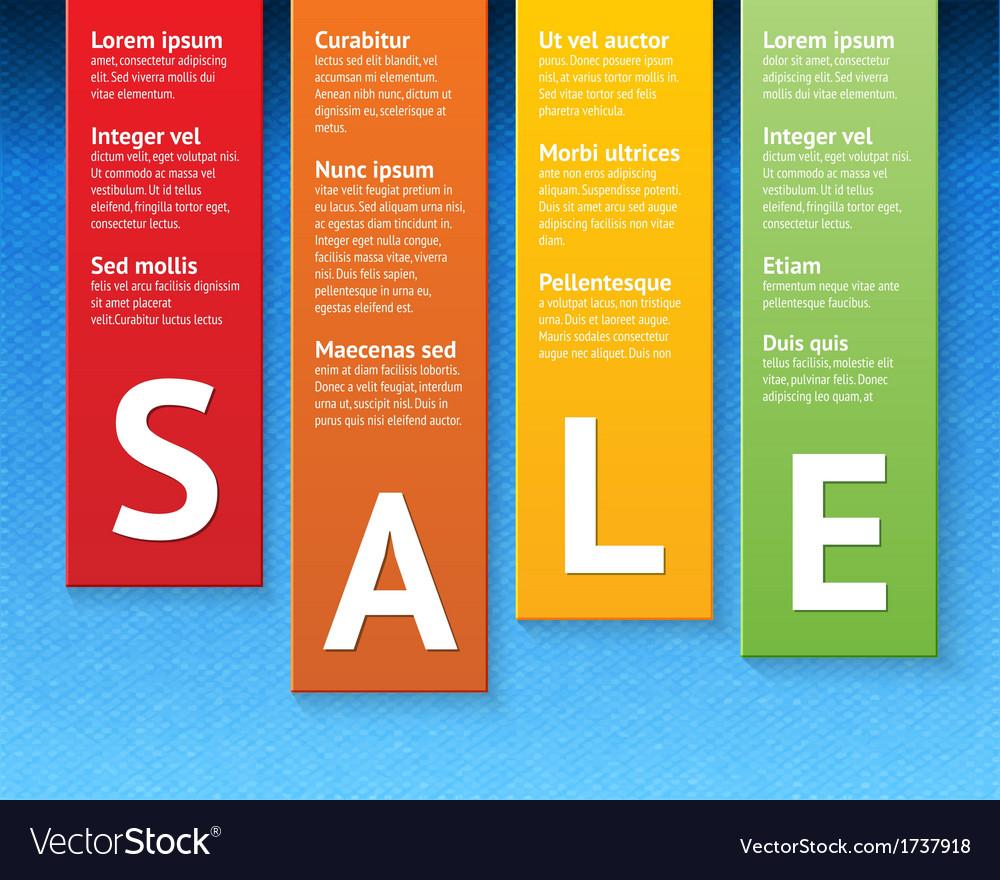 Sale paper cut template vector | Price: 1 Credit (USD $1)