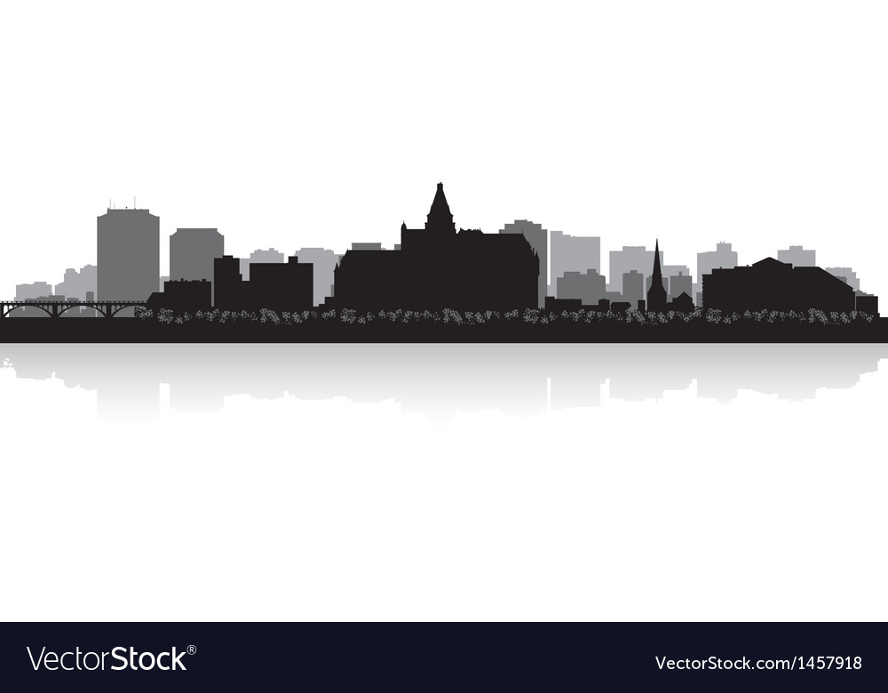 Saskatoon canada city skyline silhouette vector | Price: 1 Credit (USD $1)