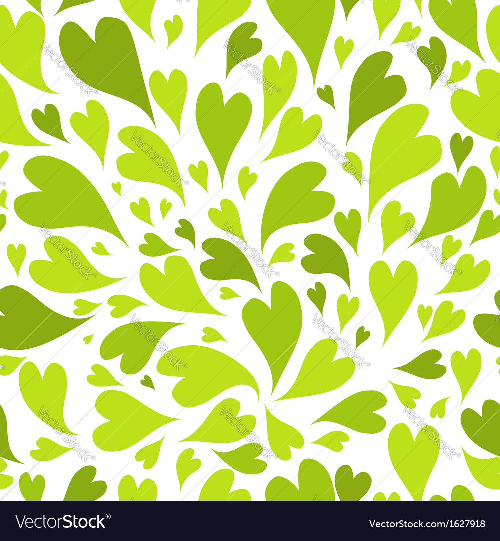 Seamless pattern with green hearts for your design vector | Price: 1 Credit (USD $1)