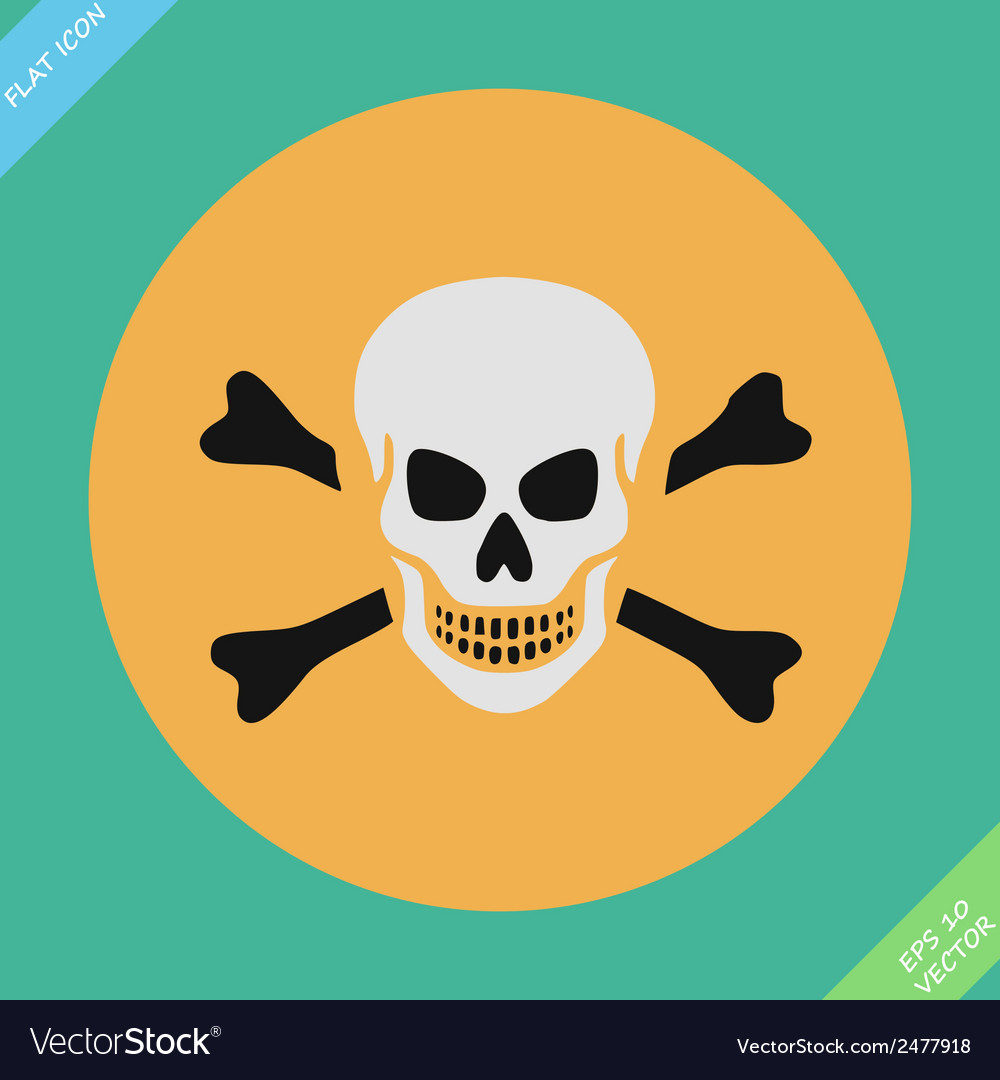 Skull and bones warning sign - vector | Price: 1 Credit (USD $1)