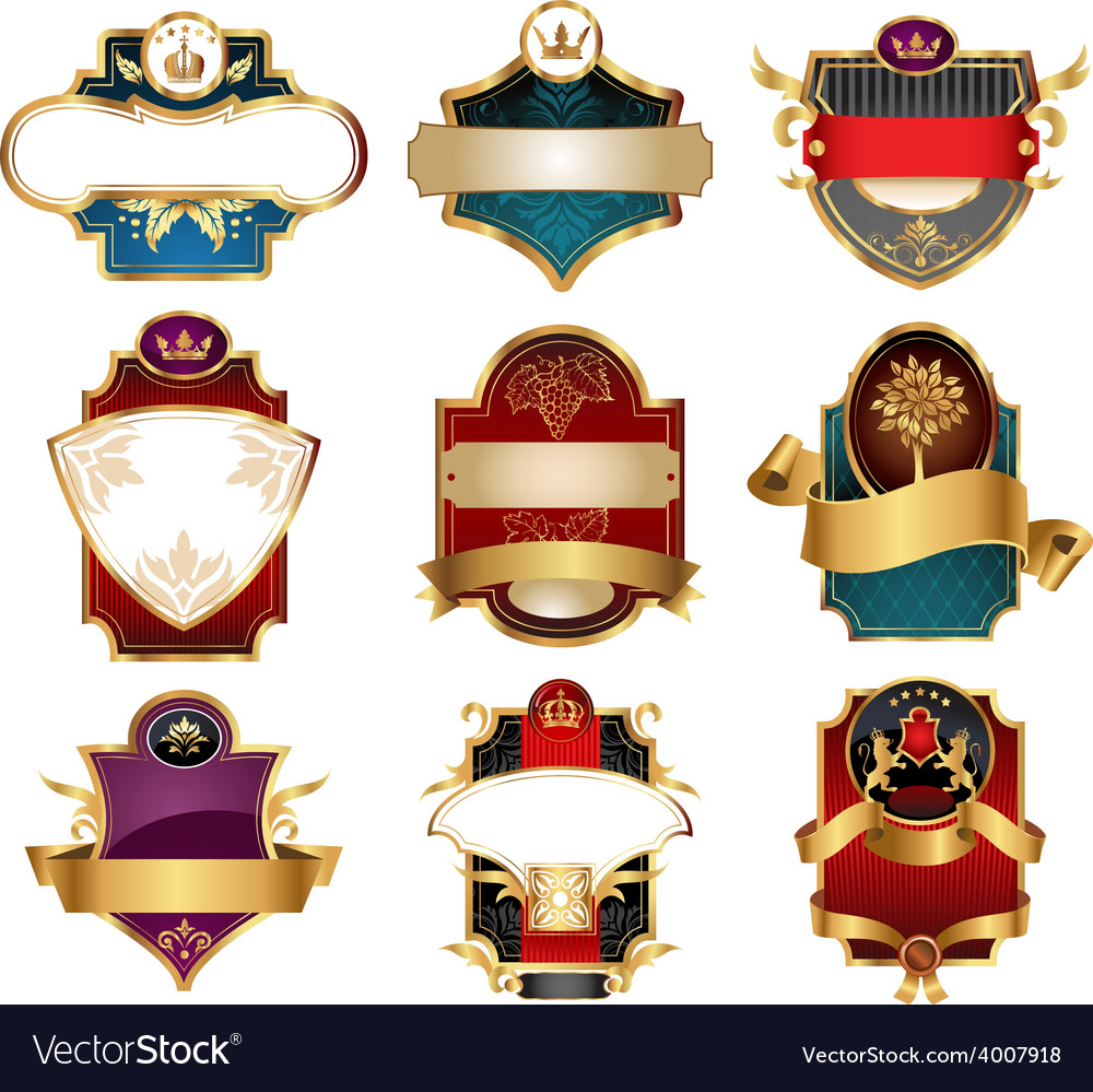 Vctor luxury labels vector | Price: 3 Credit (USD $3)