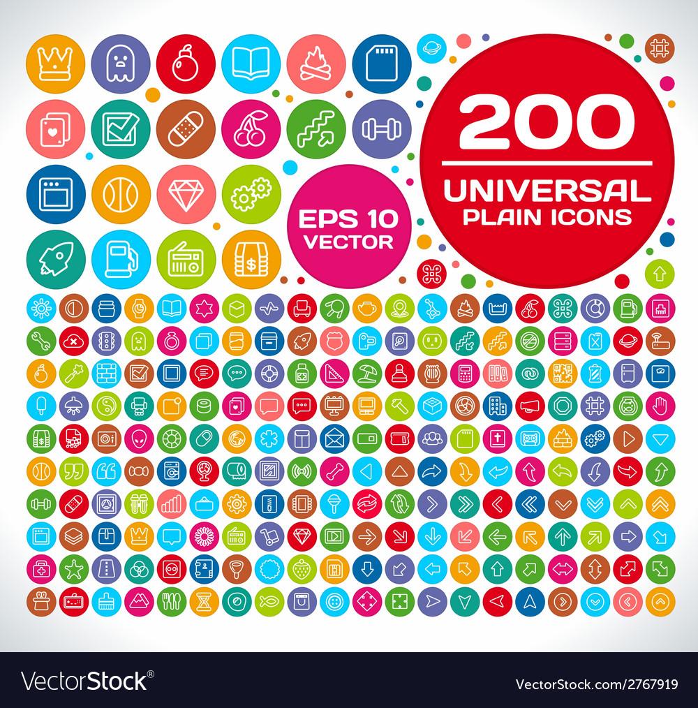 200 universal plain icon set 2 vector   Price: 1 Credit (USD $1)