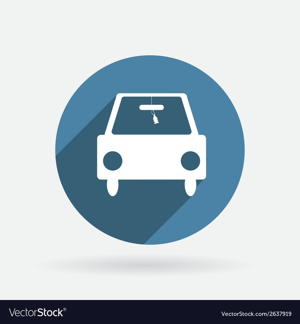 Car symbol circle blue icon with shadow vector | Price: 1 Credit (USD $1)