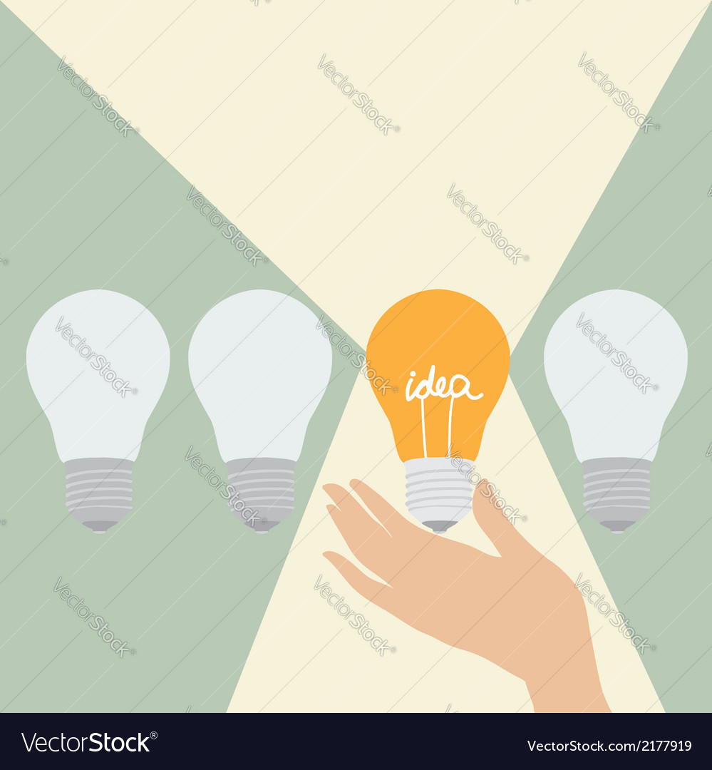 The idea that lights all around vector | Price: 1 Credit (USD $1)