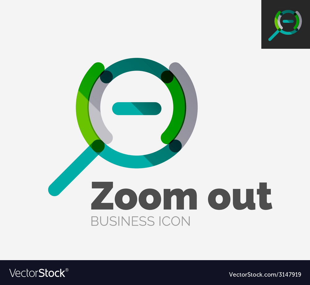 Minimal line design logo zoom icon vector | Price: 1 Credit (USD $1)