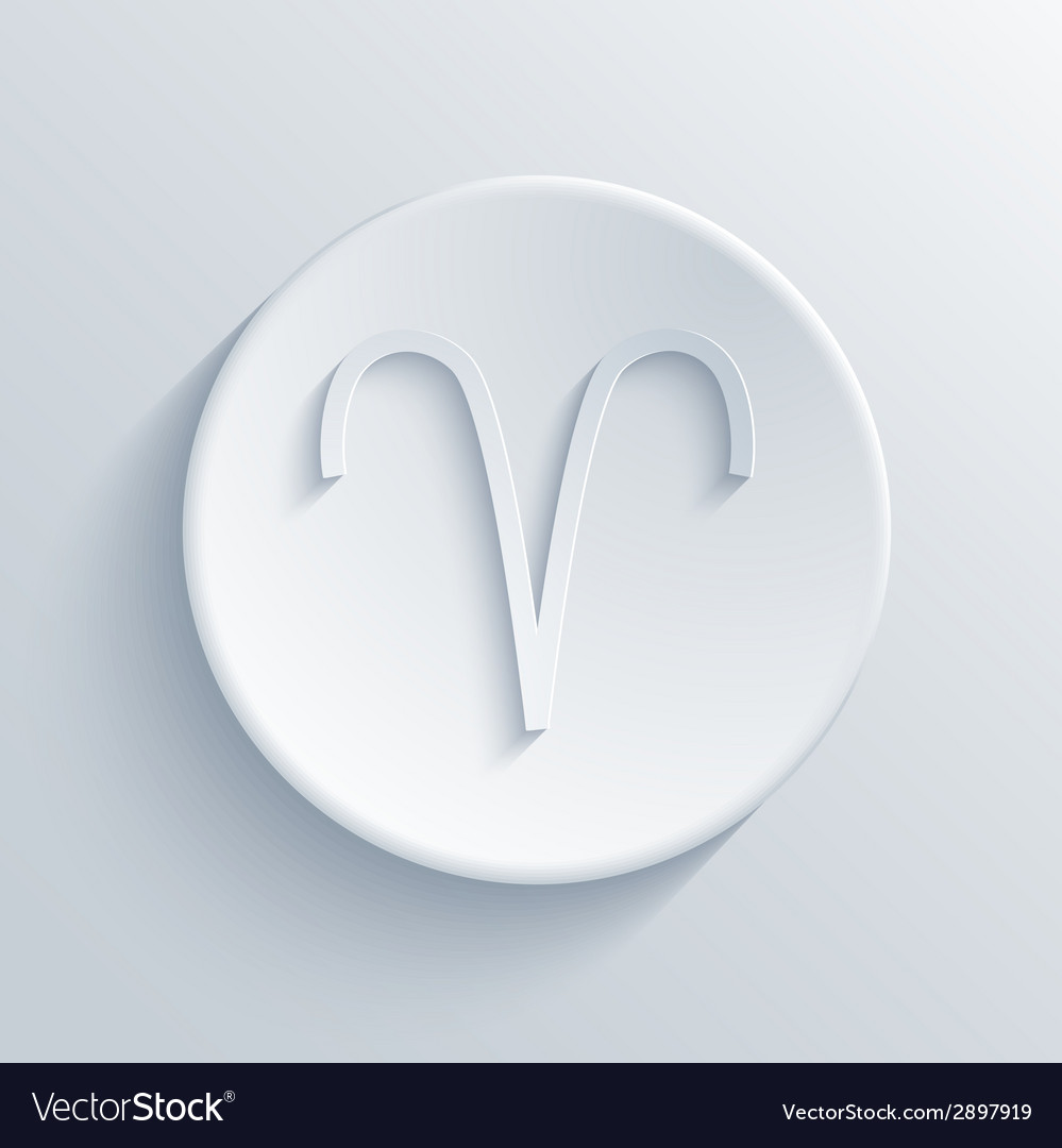 Modern signs of the zodiac circle icon vector | Price: 1 Credit (USD $1)