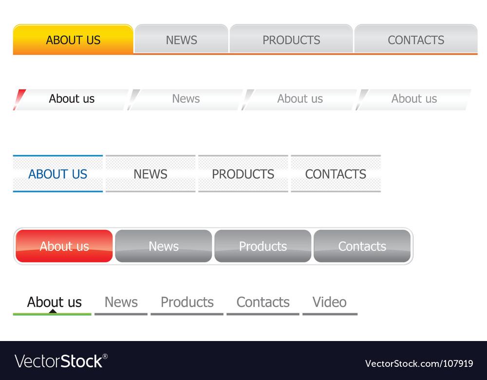 Navigation bar templates vector   Price: 1 Credit (USD $1)