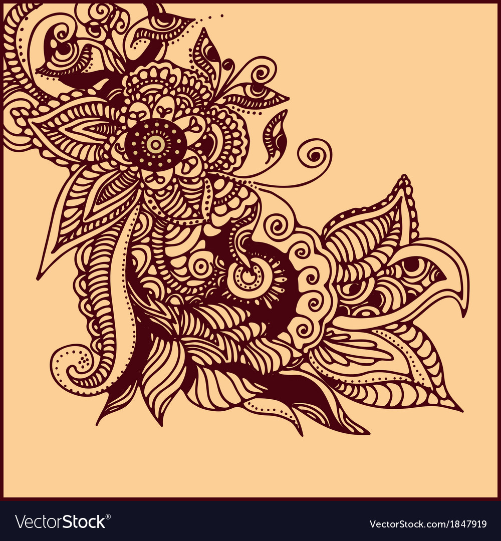 Tattoo henna vector | Price: 1 Credit (USD $1)