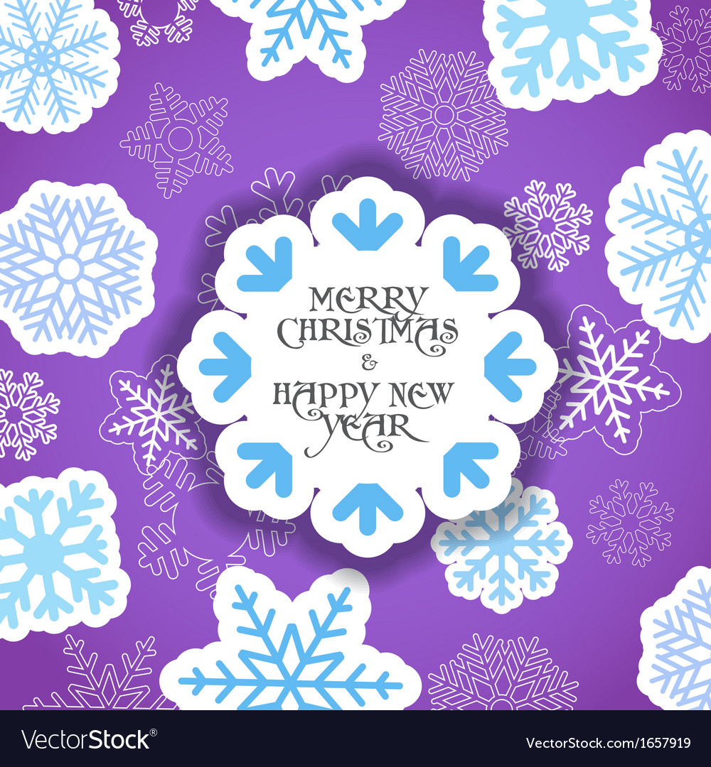 Violet christmas greeting card vector   Price: 1 Credit (USD $1)