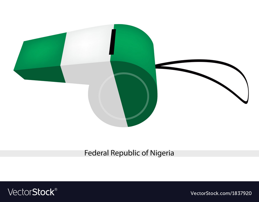 A whistle of federal republic of nigeria vector | Price: 1 Credit (USD $1)