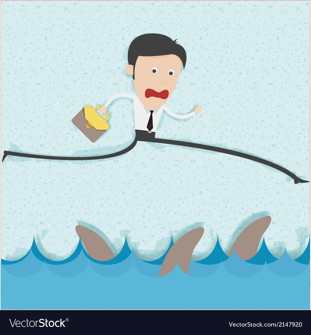 Businessman risk managment concept vector | Price: 1 Credit (USD $1)