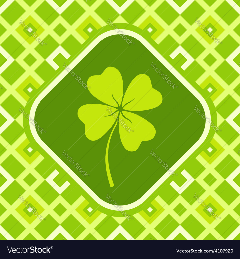 Clover green vector | Price: 1 Credit (USD $1)