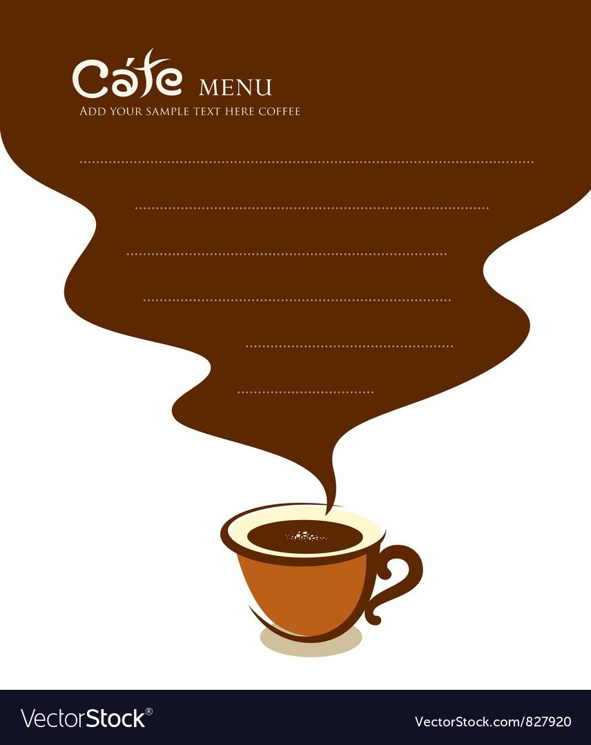 Coffee cup cafe menu design vector | Price: 1 Credit (USD $1)