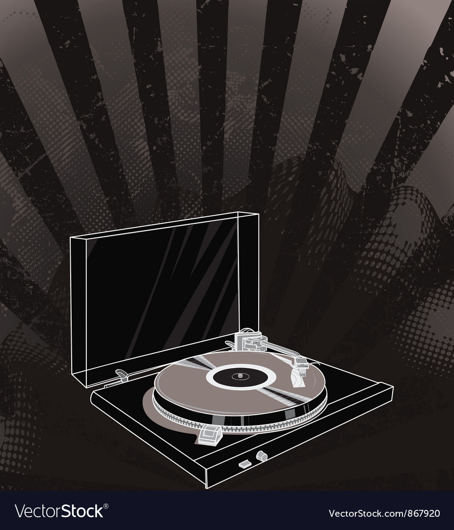 Concert poster with turntable vector | Price: 1 Credit (USD $1)