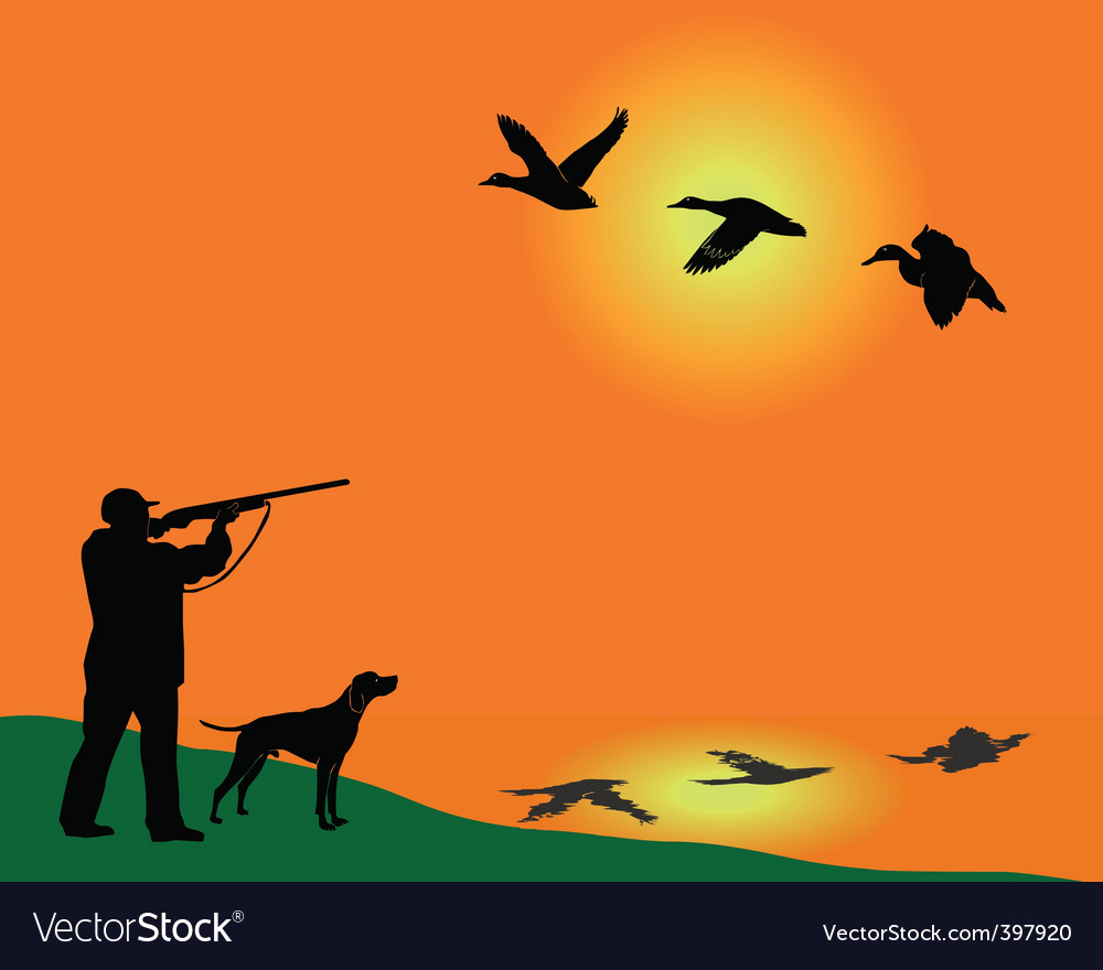 Duck hunter vector | Price: 1 Credit (USD $1)