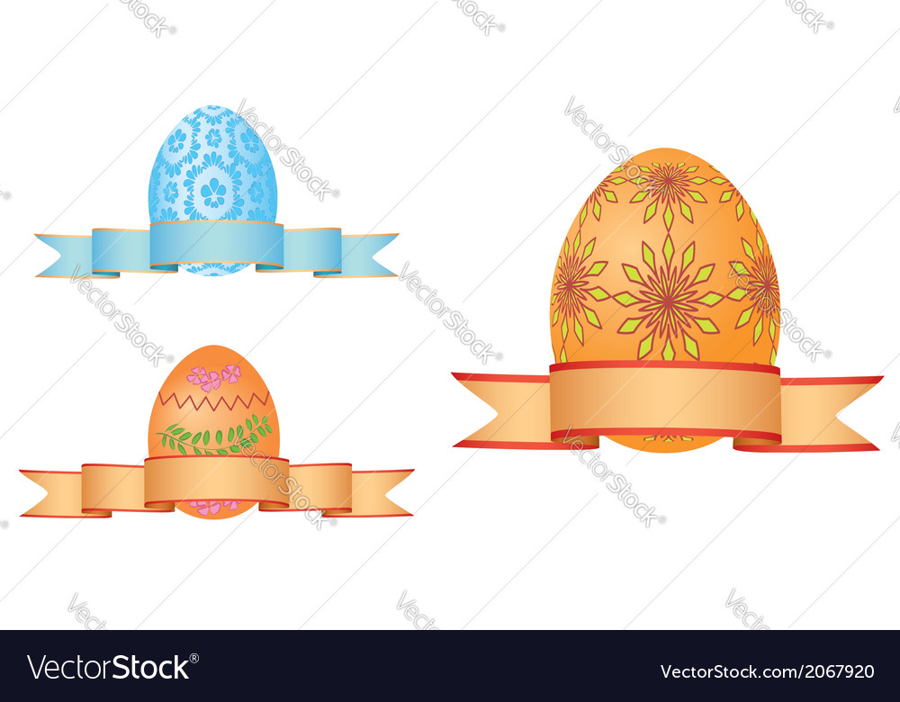 Easter eggs with ribbons vector | Price: 1 Credit (USD $1)