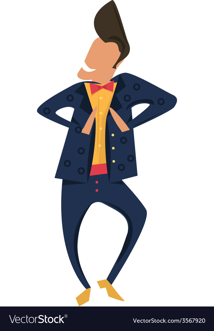 Hipster dancing in retro style jacket vector | Price: 1 Credit (USD $1)