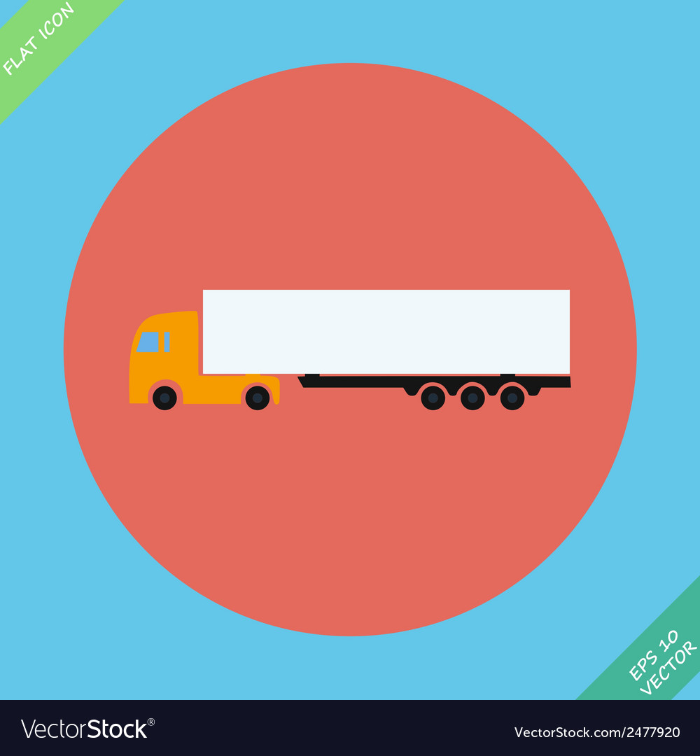 Icon trucks with refrigerator - vector | Price: 1 Credit (USD $1)