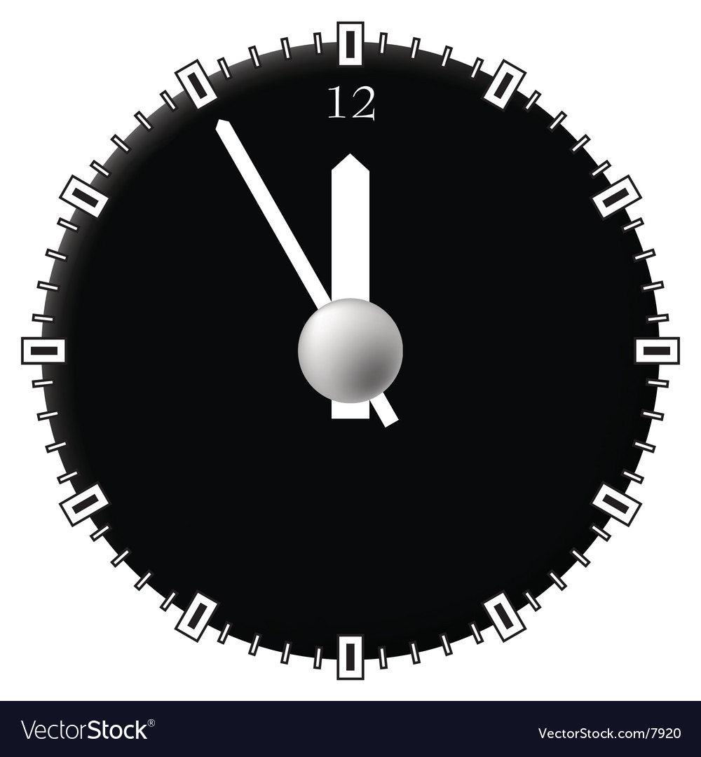 Office clock techno style vector | Price: 1 Credit (USD $1)