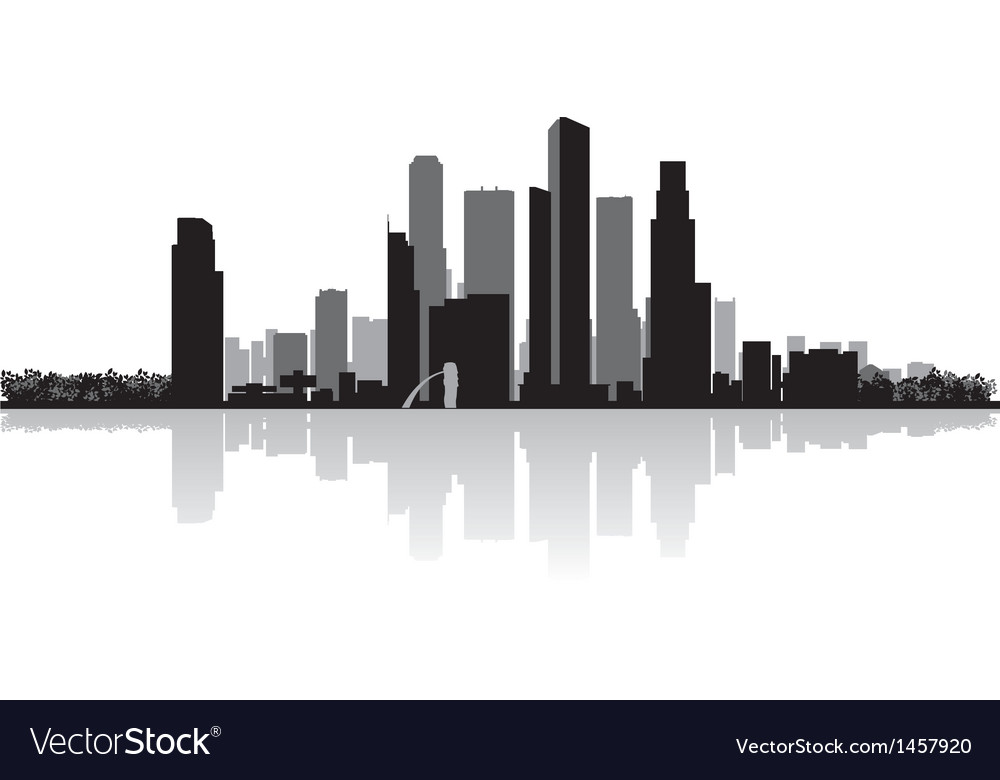 Singapore city skyline silhouette vector | Price: 1 Credit (USD $1)