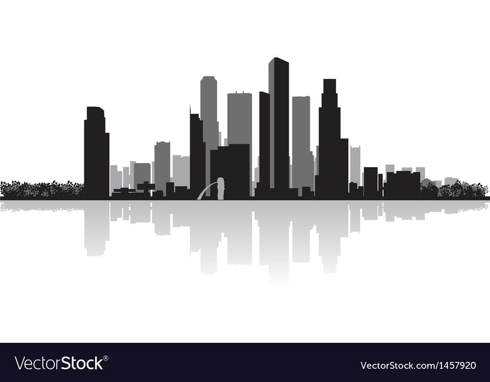 Singapore city skyline silhouette vector   Price: 1 Credit (USD $1)