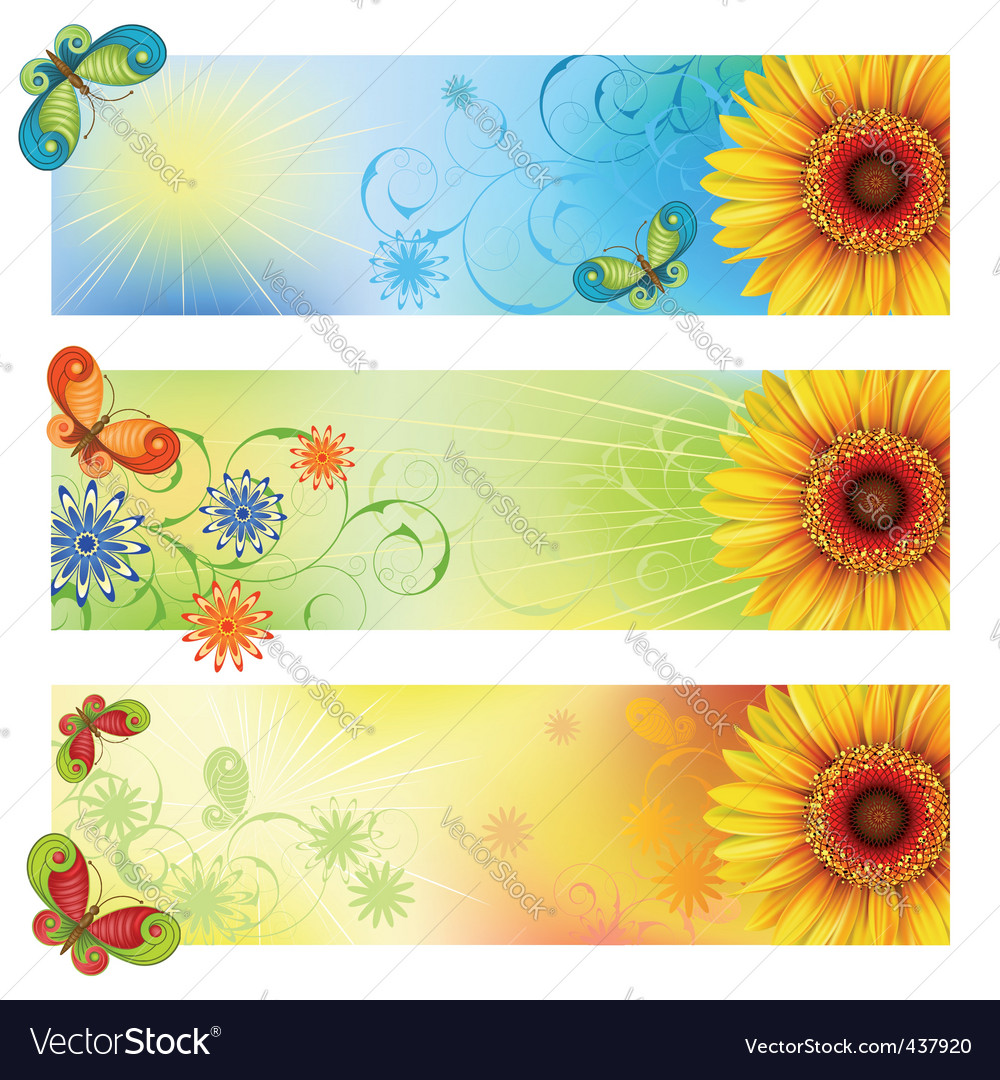Summer banners vector | Price: 3 Credit (USD $3)