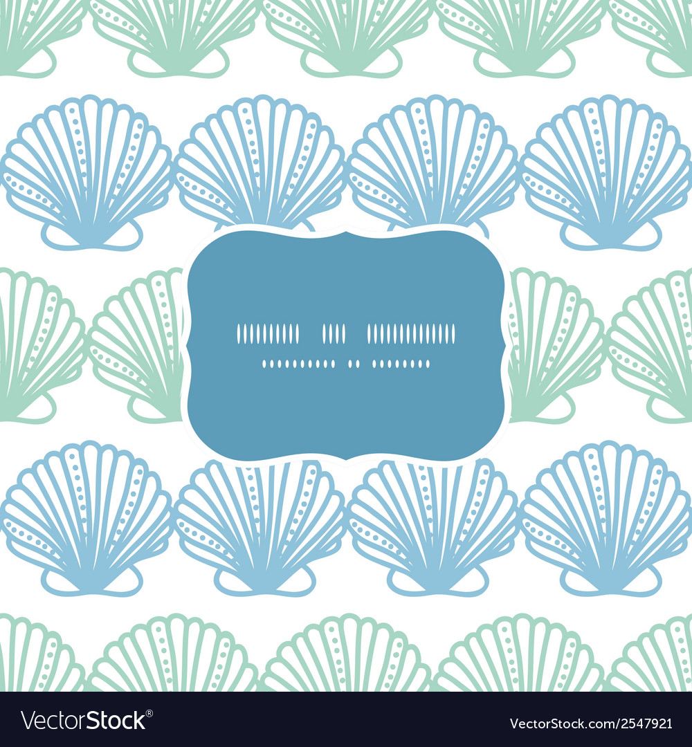 Abstract seashels stripes frame seamless pattern vector | Price: 1 Credit (USD $1)