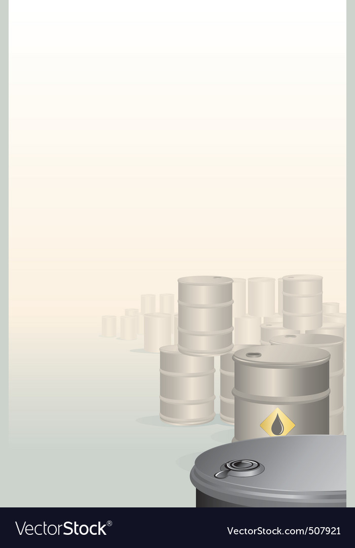 Background with oil barrels vector | Price: 1 Credit (USD $1)
