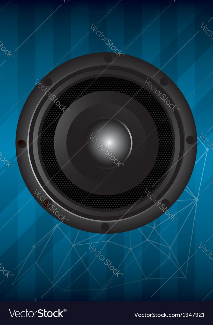 Black speaker with lines vector | Price: 1 Credit (USD $1)