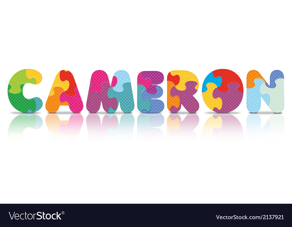 Cameron written with alphabet puzzle vector | Price: 1 Credit (USD $1)