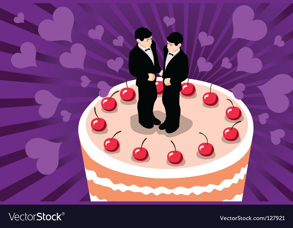 Gay wedding cake vector | Price: 1 Credit (USD $1)