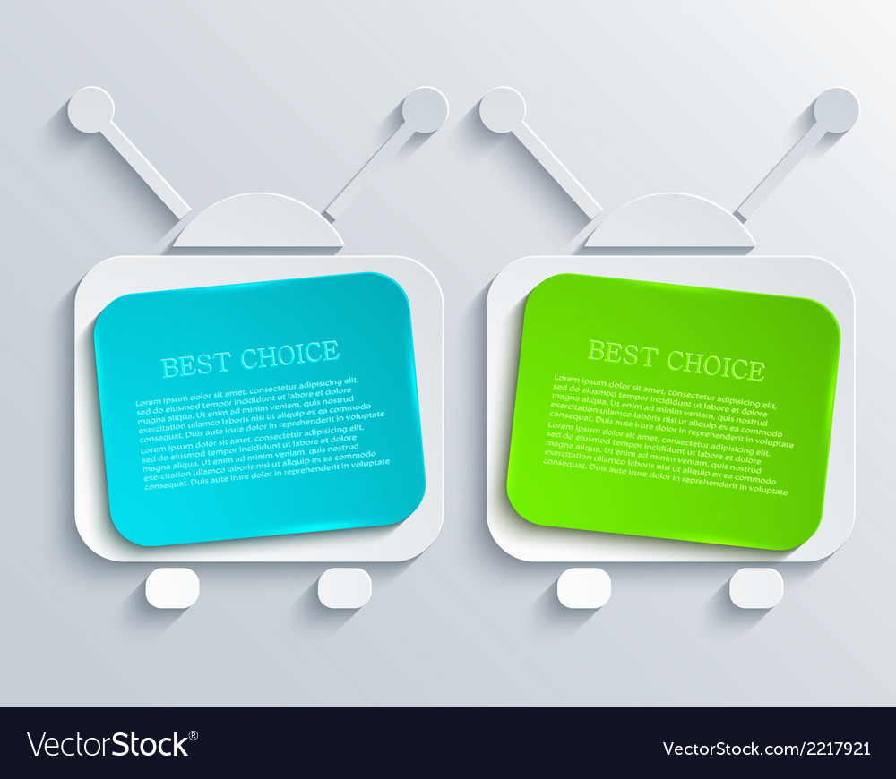 Modern tv banners design background vector | Price: 1 Credit (USD $1)