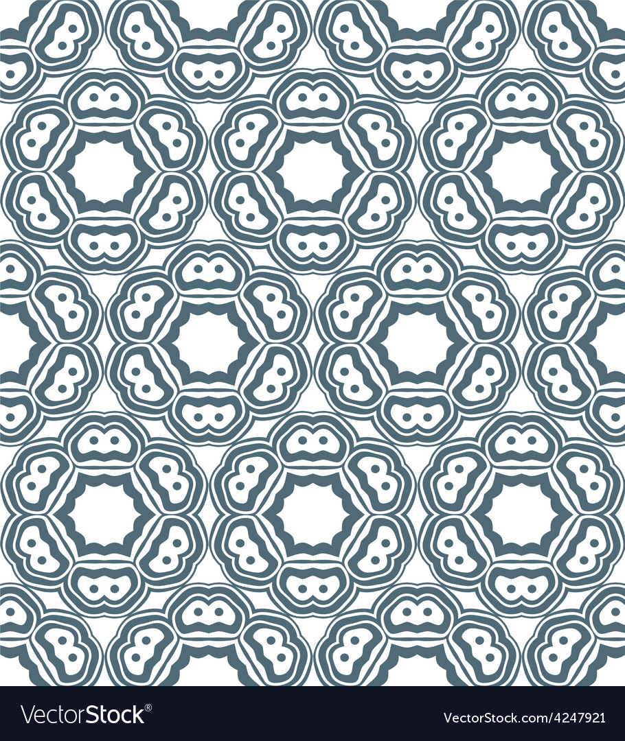 Psychedelic abstract monochrome seamless pattern vector | Price: 1 Credit (USD $1)
