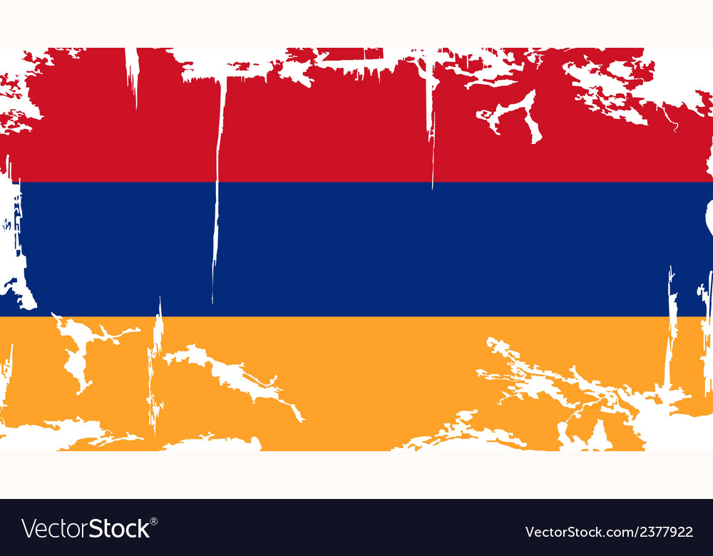 Armenian grunge flag vector | Price: 1 Credit (USD $1)