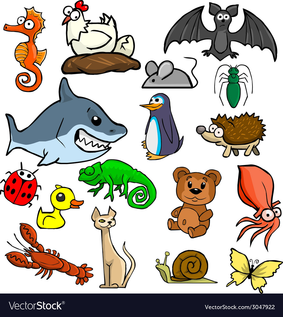 Cartoonish animals vector | Price: 1 Credit (USD $1)