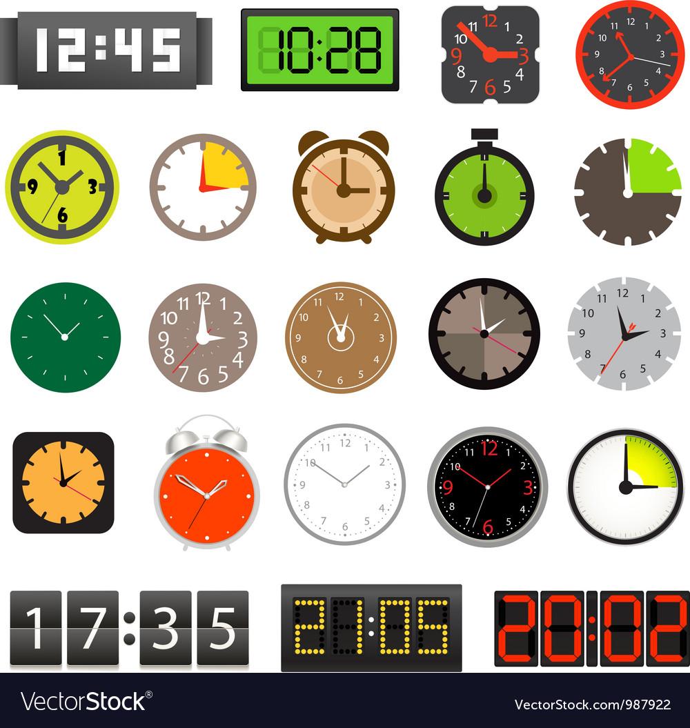 Clocks vector | Price: 3 Credit (USD $3)
