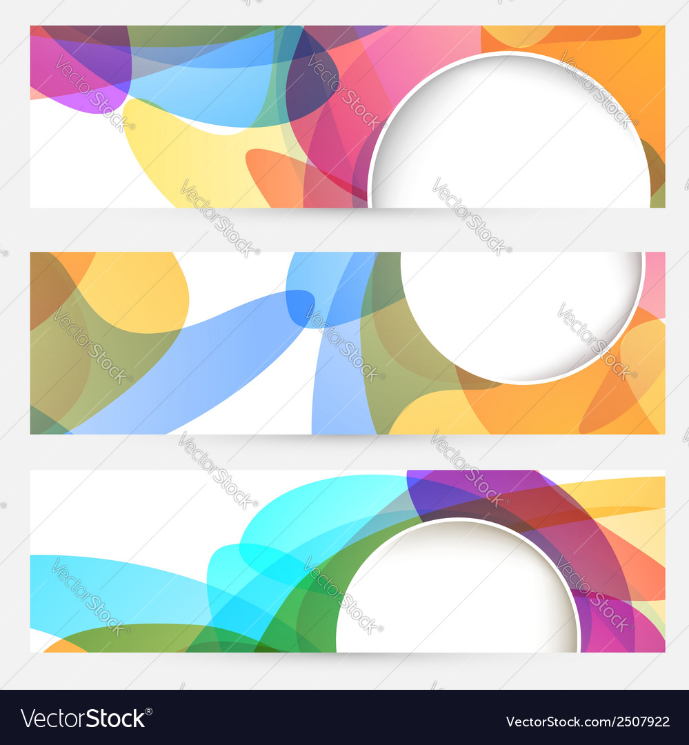 Collection of bright abstract design cards vector | Price: 1 Credit (USD $1)