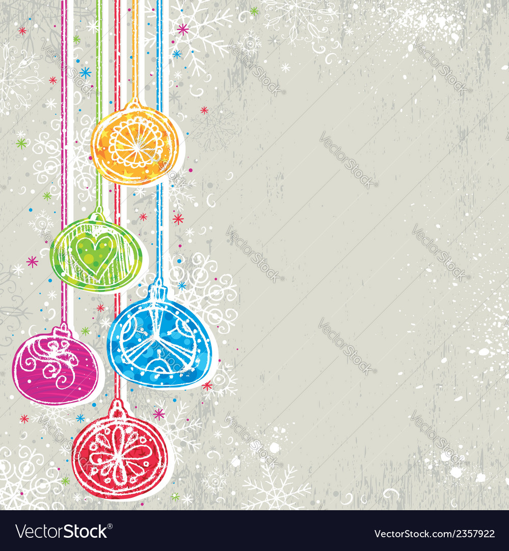 Color background with christmas balls vector | Price: 1 Credit (USD $1)