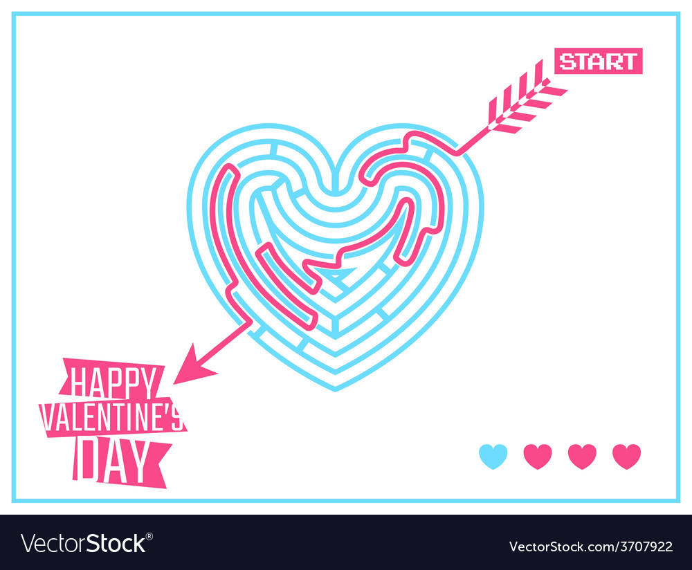 Concept of happy valentines day greeting or vector | Price: 1 Credit (USD $1)