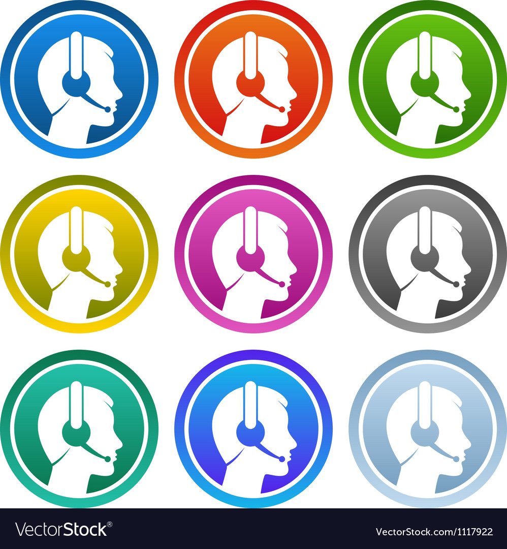 Contact icon set vector | Price: 1 Credit (USD $1)