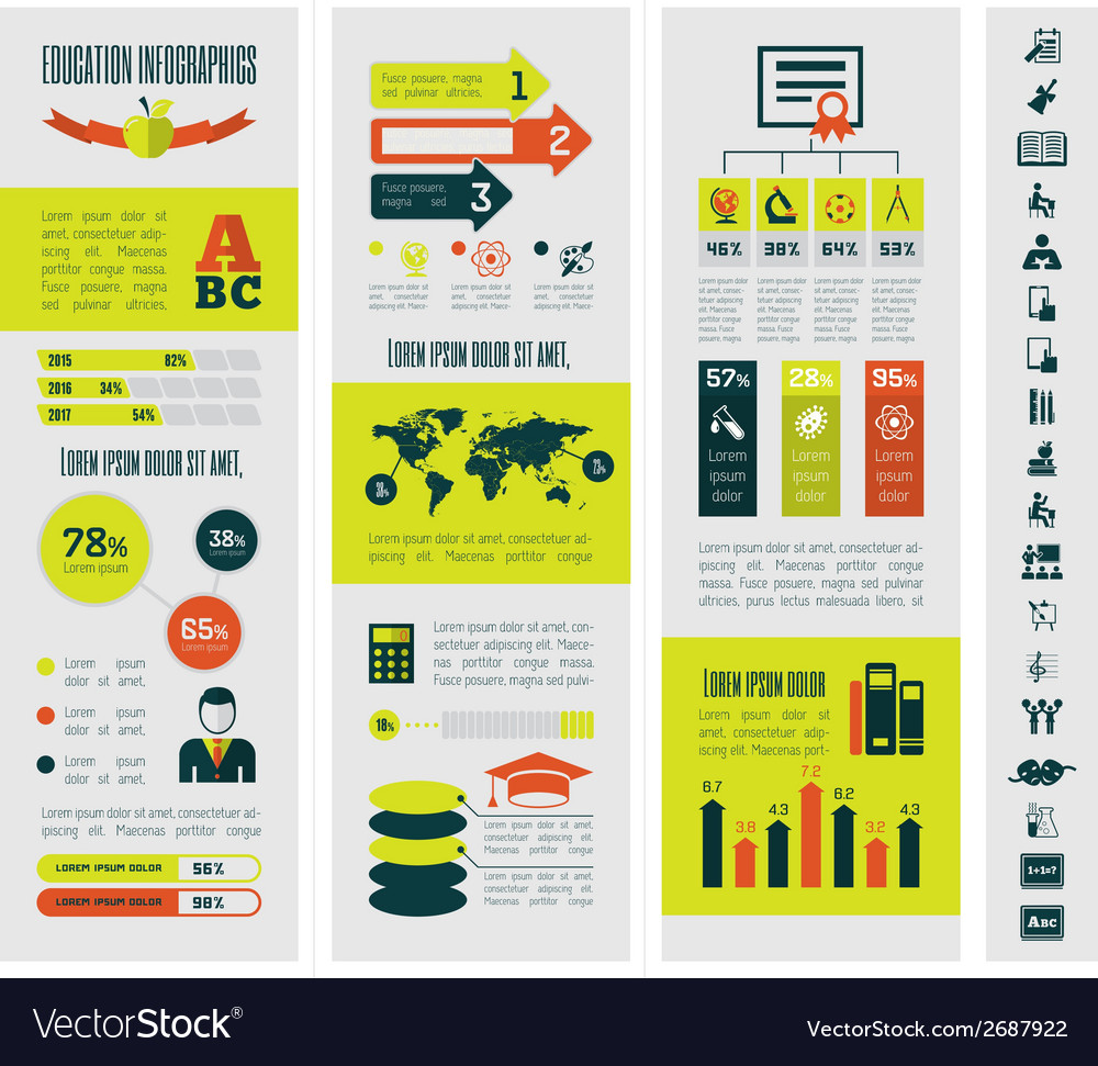 Education infographics vector | Price: 1 Credit (USD $1)