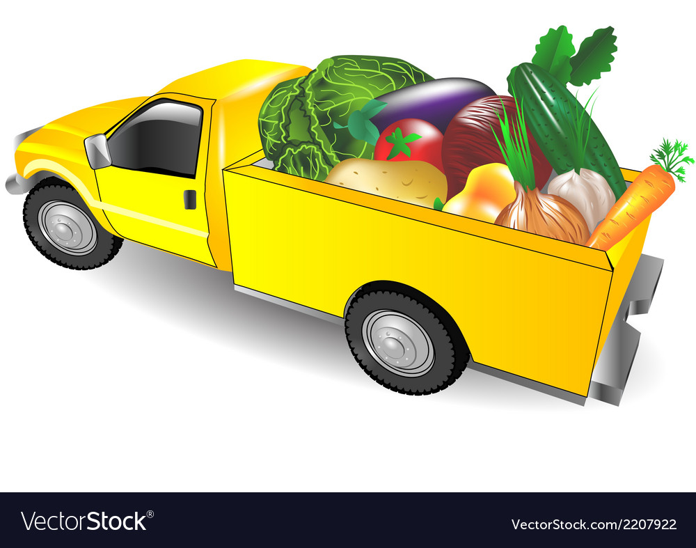 Fruit truck vector | Price: 1 Credit (USD $1)