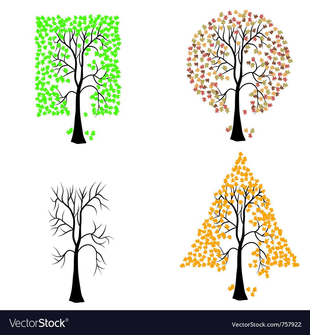 Geometric shape tree vector | Price: 1 Credit (USD $1)