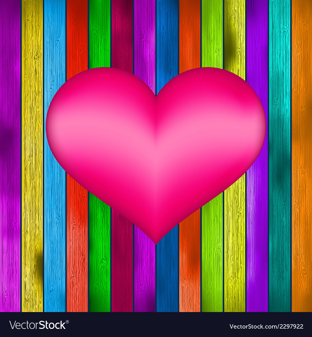 Love symbol on old colorful wooden wall  eps8 vector   Price: 1 Credit (USD $1)
