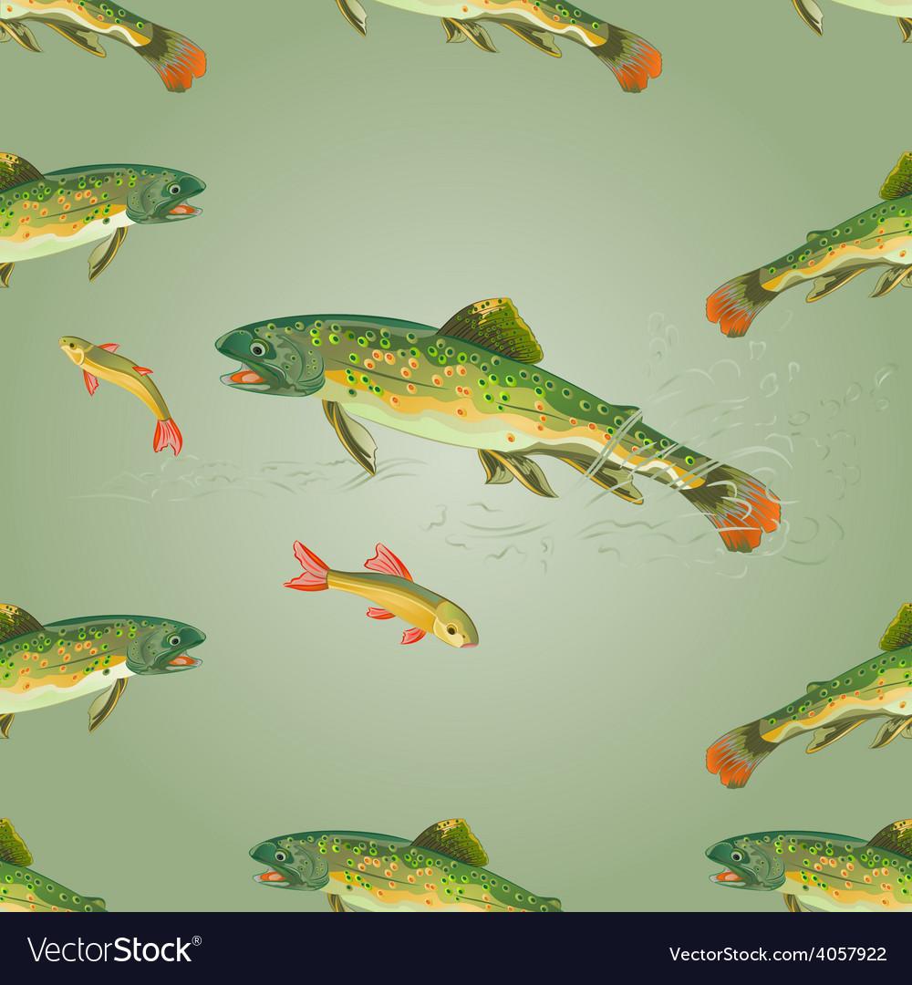 Seamless texture brook trout predator vector | Price: 1 Credit (USD $1)