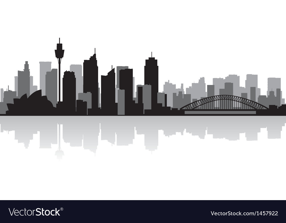 Sydney australia city skyline silhouette vector | Price: 1 Credit (USD $1)