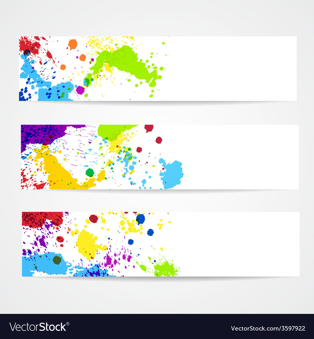 Watercolor splash banners vector | Price: 1 Credit (USD $1)