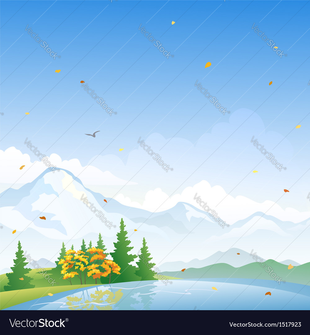 Autumn scenery vector | Price: 3 Credit (USD $3)