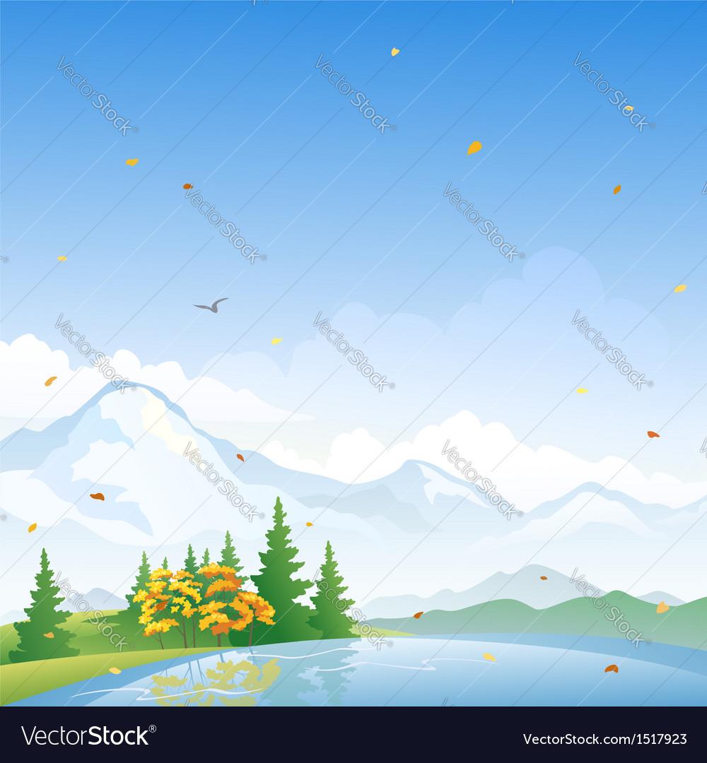 Autumn scenery vector   Price: 3 Credit (USD $3)