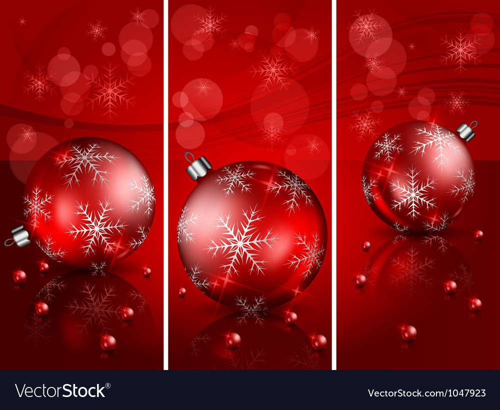 Christmas red balls background 10 2 v vector | Price: 1 Credit (USD $1)